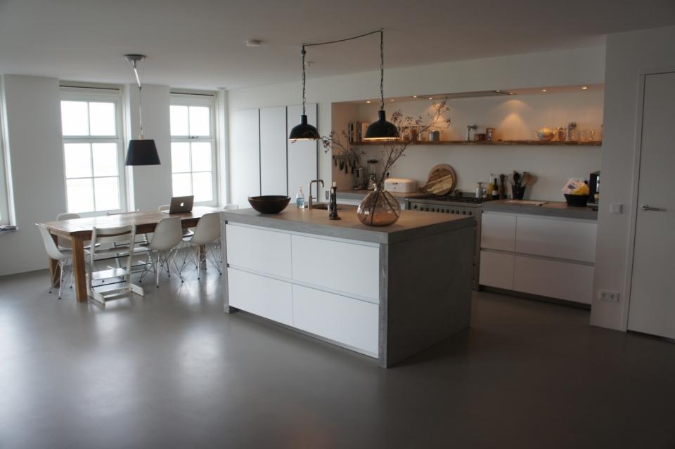 Keuken Gietvloer Marmer : Keukenvloer grijs keukentegels en keukenvloeren startpagina voor